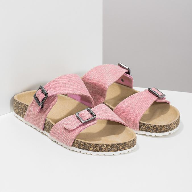 Dámské korkové pantofle růžové bata, růžová, 579-5625 - 26