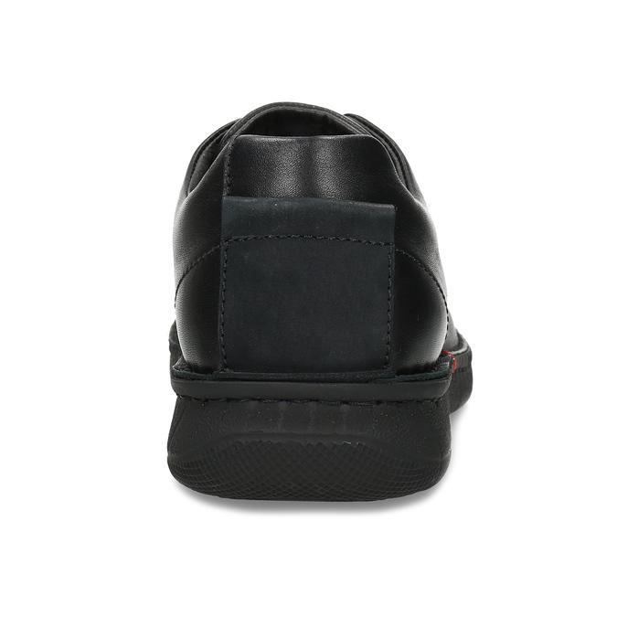 Pánské černé kožené ležérní polobotky bata, černá, 824-6630 - 15