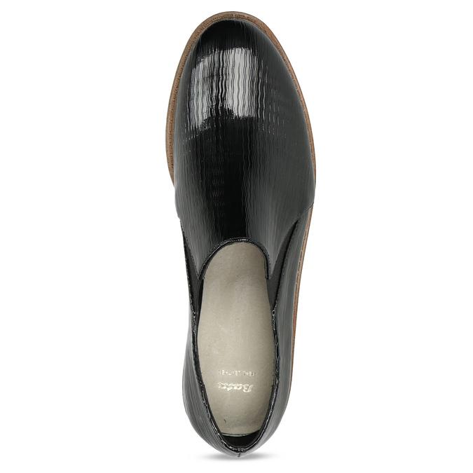 Dámská Slip-on obuv se strukturou bata, černá, 511-6612 - 17