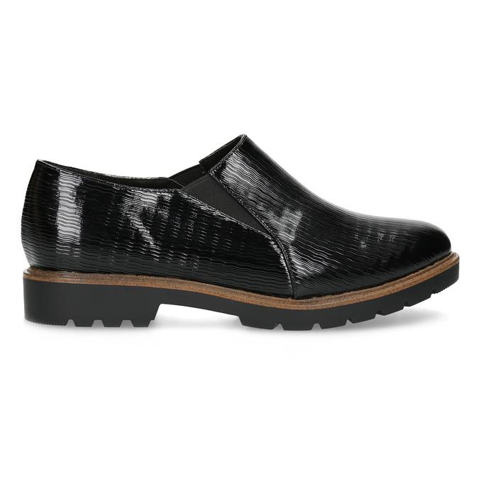 Dámská Slip-on obuv se strukturou bata, černá, 511-6612 - 19