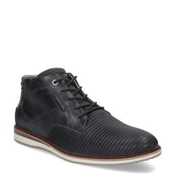Modrá pánská kožená kotníčková obuv bata, modrá, 826-9912 - 13