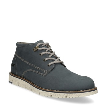 Pánská kožená kotníčková modrá obuv weinbrenner, modrá, 846-9658 - 13