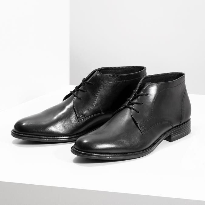 Pánská kožená kotníčková obuv bata, černá, 824-6892 - 16