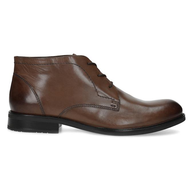 Pánská kožená kotníčková obuv bata, hnědá, 826-3893 - 19