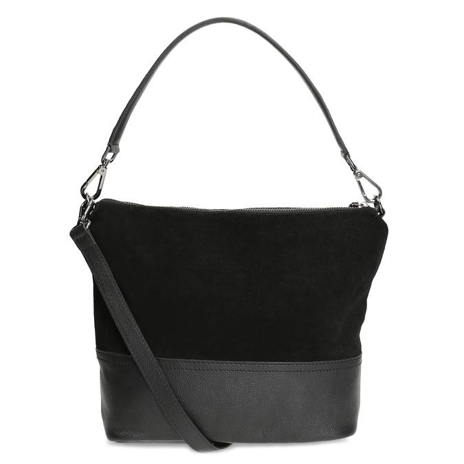 Kožená černá kabelka v Hobo stylu bata, černá, 963-6600 - 16