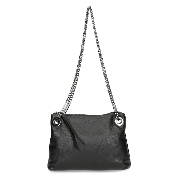 Kožená černá Crossbody kabelka bata, černá, 964-6602 - 26