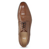 Hnědé kožené pánské polobotky bata, hnědá, 826-3406 - 17