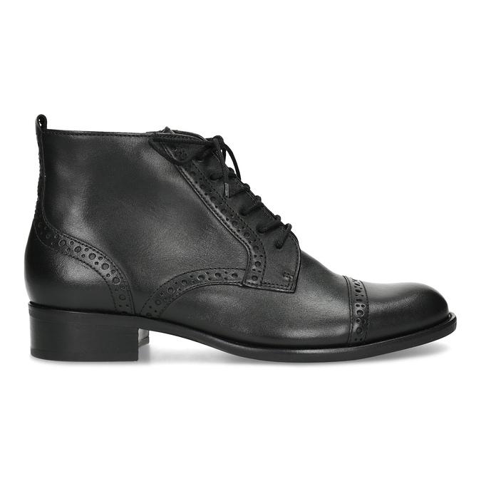Kotníčková dámská obuv s Brogue zdobením gabor, černá, 624-6031 - 19