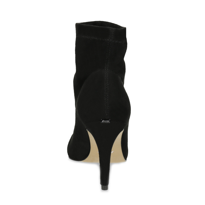 Kotníčkové dámské kozačky na jehlovém podpatku bata, černá, 799-6620 - 15