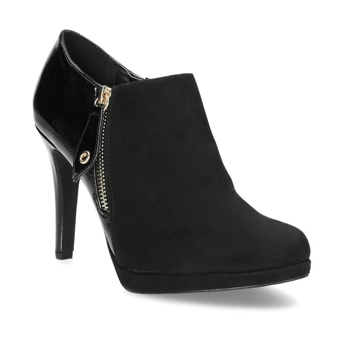 Dámská kotníčková obuv na jehlovém podpatku insolia, černá, 799-6637 - 13