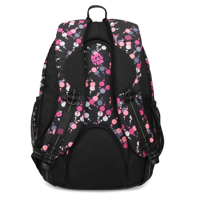 Školní batoh s puntíky bagmaster, růžová, 969-5719 - 16
