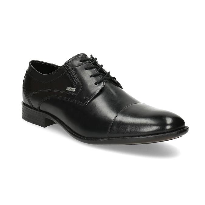 Černé kožené derby polobotky bugatti, černá, 824-6088 - 13