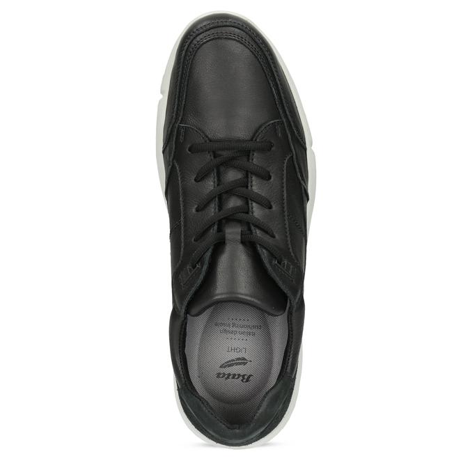 Černé pánské tenisky s prošitím bata-light, černá, 844-6647 - 17