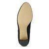 Dámská černá kotníčková obuv na podpatku bata, černá, 799-6625 - 18