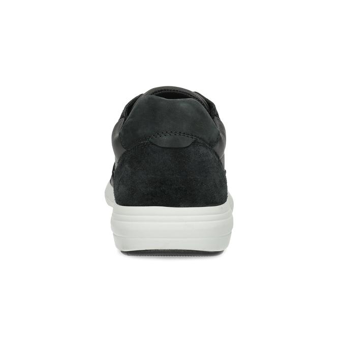 Černé pánské tenisky s prošitím bata-light, černá, 844-6647 - 15