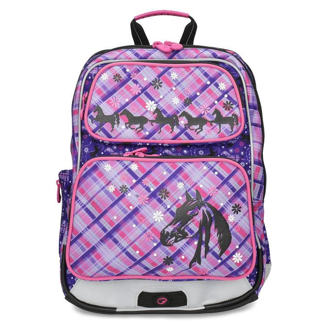Školní aktovka s koňmi bagmaster, růžová, 969-9726 - 26