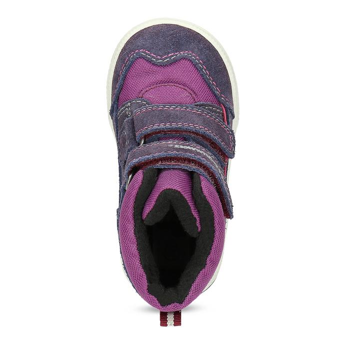 Kotníkové dětské boty s teplou podšívkou bubblegummers, fialová, 123-5610 - 17