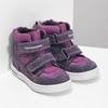 Kotníkové dětské boty s teplou podšívkou bubblegummers, fialová, 123-5610 - 26