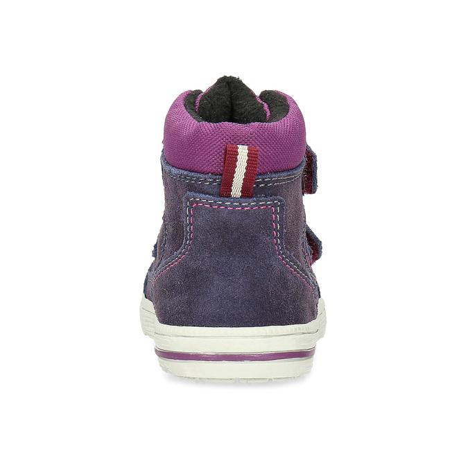 Kotníkové dětské boty s teplou podšívkou bubblegummers, fialová, 123-5610 - 15
