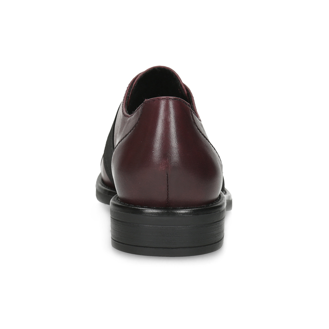 Vínové dámské polobotky s elastickým pruhem bata, červená, 514-5602 - 15