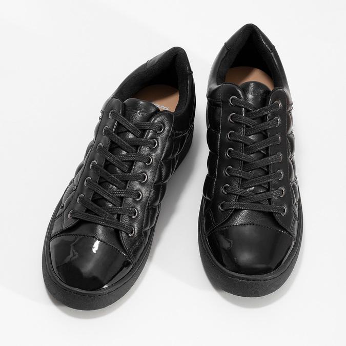 Dámské prošívané tenisky černé bata-light, černá, 541-6603 - 16