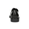 Černé dámské kožené polobotky bata, černá, 524-6666 - 15