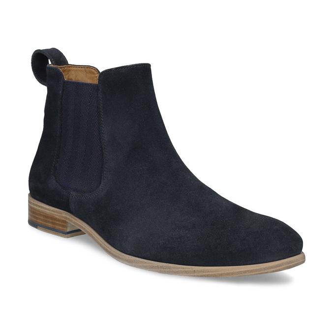 Tmavě modrá kožená pánská Chelsea obuv bata, modrá, 823-9614 - 13