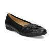 Černé kožené dámské baleríny gabor, černá, 524-6048 - 13
