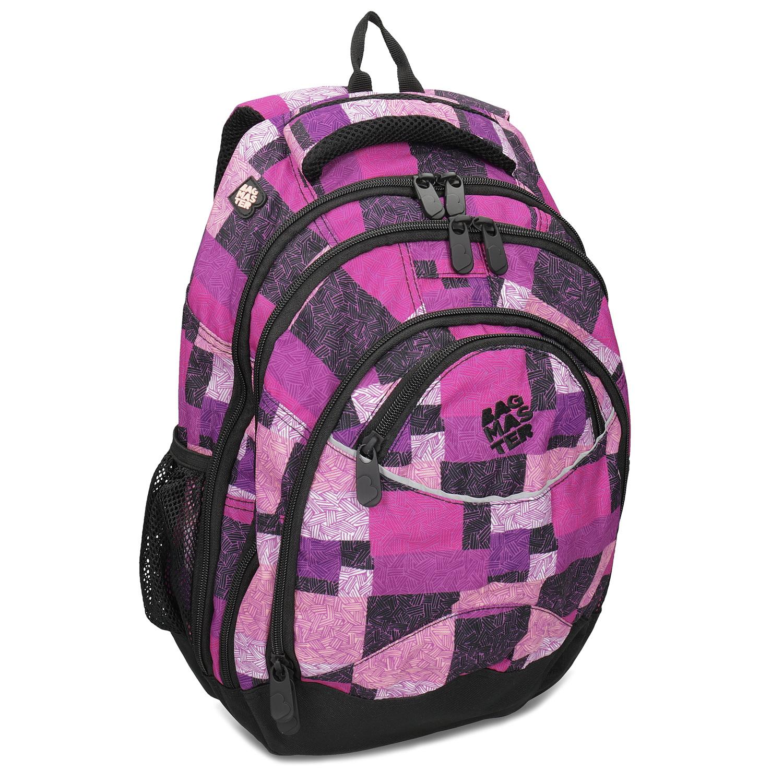 Bagmaster Dívčí školní batoh fialovo-růžový - Školní batohy  262ba42823