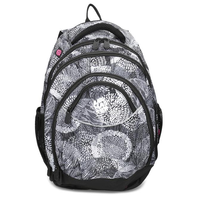Černo-bílý školní batoh bagmaster, šedá, 969-2719 - 26