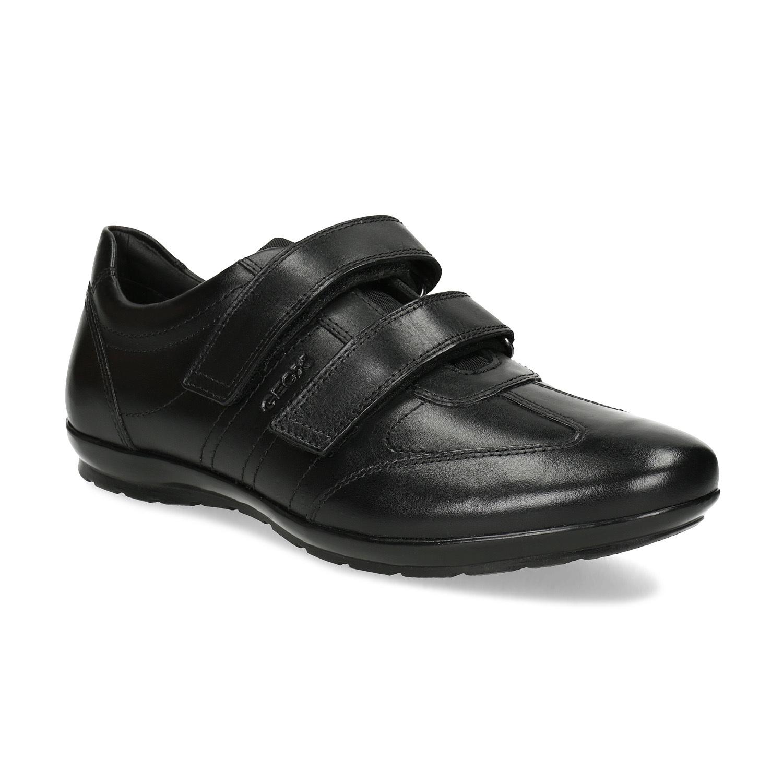 Geox Pánské kožené tenisky na suchý zip - Všechny boty  a4e2ddc1d6