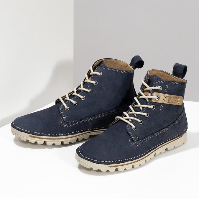 Kotníčková dámská obuv weinbrenner, modrá, 594-9323 - 16