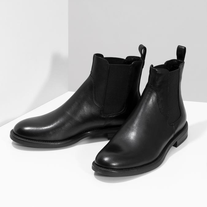 Dámské kožené černé Chelsea vagabond, černá, 514-6007 - 16