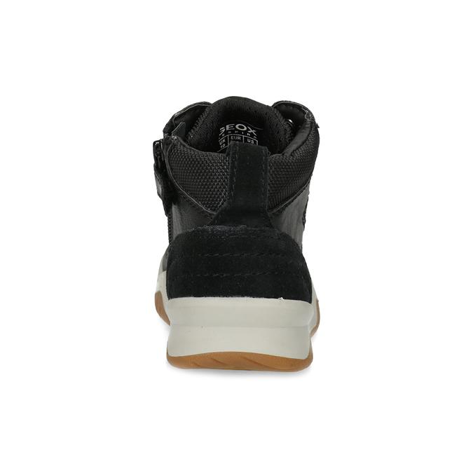 Kožená kotníčková obuv chlapecká geox, černá, 326-6007 - 15