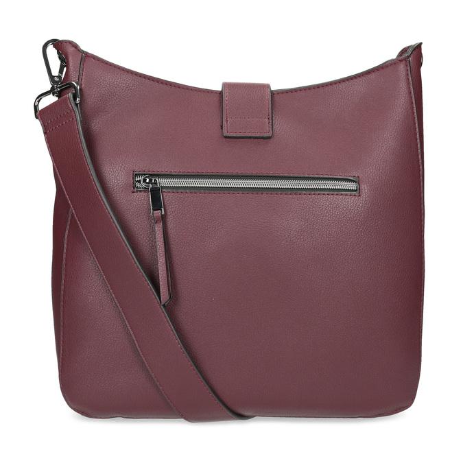 Dámská vínová kabelka s přezkou bata, červená, 961-5870 - 16