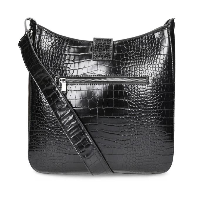 Dámská černá Crossbody kabelka se strukturou bata, černá, 961-6872 - 16