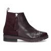 Kožené kotníčková obuv se střapci flexible, červená, 596-5696 - 19