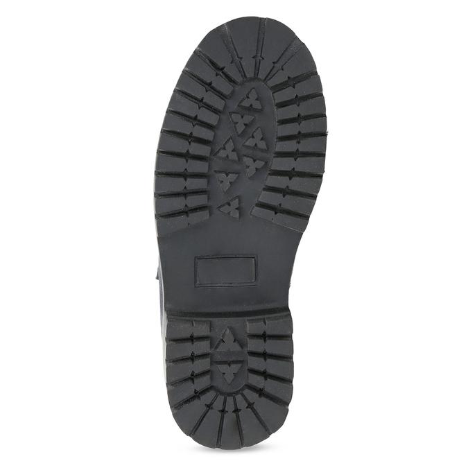 Dětská kožená kotníčková obuv na suché zipy weinbrenner, modrá, 216-9201 - 18