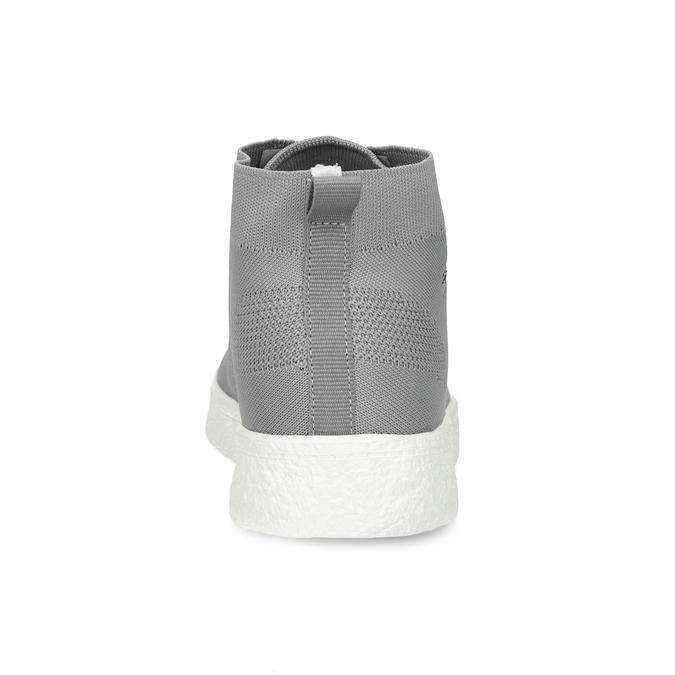 Pánské kotníčkové tenisky z úpletu šedé north-star, šedá, 849-2632 - 15
