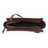 Vínová kabelka v crossbody stylu bata, červená, 961-5885 - 15