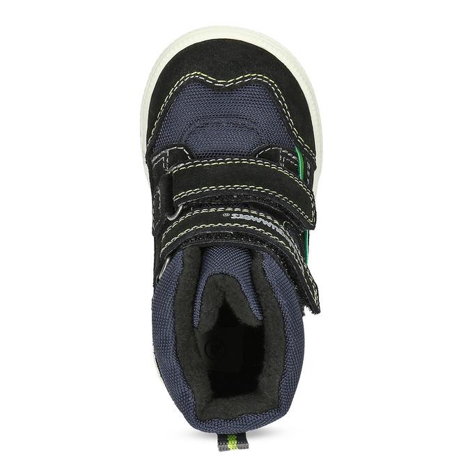 Kotníčková dětská obuv na suché zipy bubblegummers, modrá, 113-9610 - 17