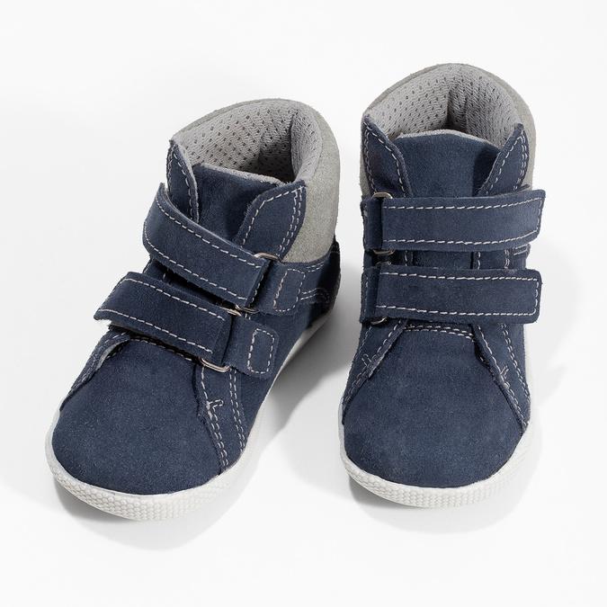 Dětská kožená kotníčková obuv bubblegummers, modrá, 113-9612 - 16
