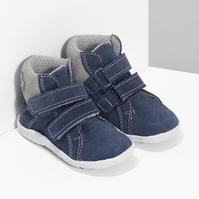 Dětská kožená kotníčková obuv bubblegummers, modrá, 113-9612 - 26