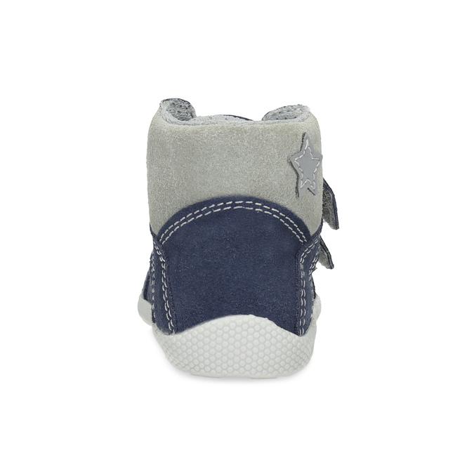 Dětská kožená kotníčková obuv bubblegummers, modrá, 113-9612 - 15