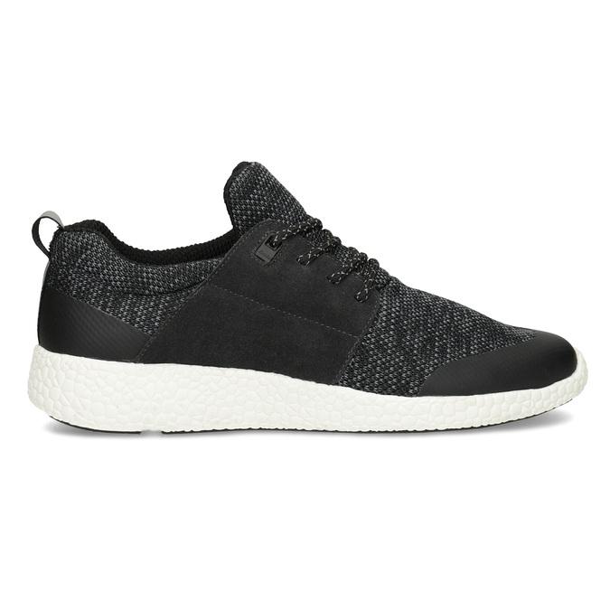 Pánské sportovní tenisky černé bata-light, šedá, 849-2634 - 19