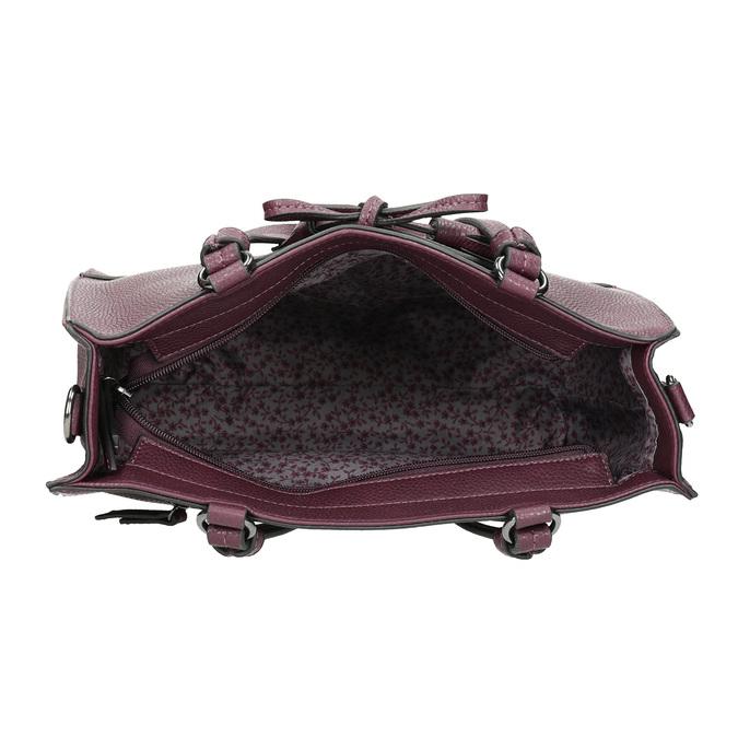 Vínová kabelka s mašlí gabor-bags, červená, 961-5061 - 15