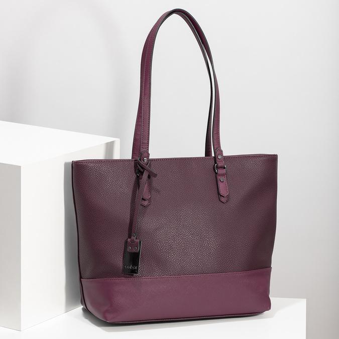 Vínová kabelka shopper bag gabor-bags, červená, 961-5060 - 17