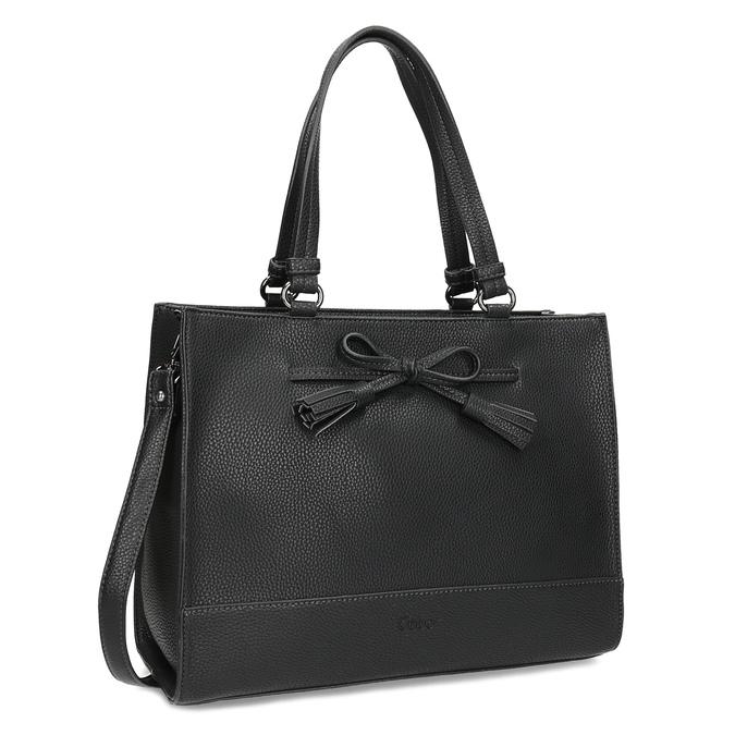 Dámská kabelka s mašlí černá gabor-bags, černá, 961-6037 - 13