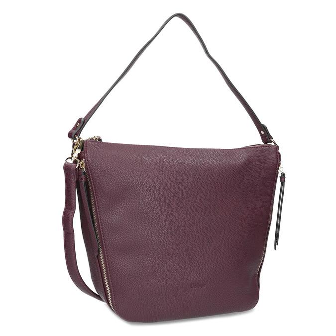 Dámská vínová kabelka se zipy gabor-bags, červená, 961-5050 - 13