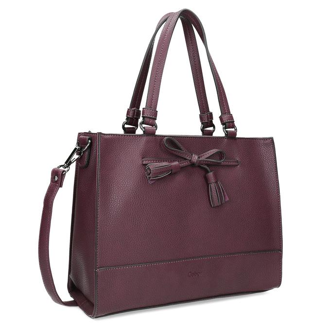 Vínová kabelka s mašlí gabor-bags, červená, 961-5061 - 13